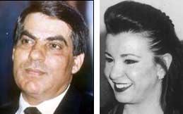 """""""Garant für Stabilität"""": Tunesischer Präsident Ben Ali, Ehefrau Laila - picBenAliLaila"""